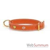 collier cuir classique dble 31mm l45cm coeur peint sellerie canine vendeenne 83490