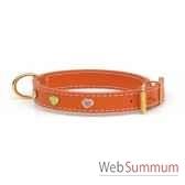 collier cuir classique dble 31mm l50cm coeur peint sellerie canine vendeenne 83491