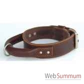 collier inter cuir dble cuir 43mm l70 80cm poignee ronde sellerie canine vendeenne 83611