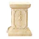 piedestaet colonne modele queen anne podest surface marbre vieilli combines avec or bs1002wwg