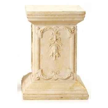 Piedestal et Colonne-Modèle Queen Anne Podest, surface marbre vieilli combinés avec or-bs1002wwg