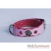 collier cuir pfleur dble nubuck 45mm l55 70cm tete perle sellerie canine vendeenne 83868