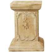 piedestaet colonne modele queen anne podest surface pierre romaine combines avec du fer bs1002ros iro
