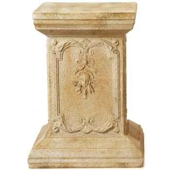 Piedestal et Colonne-Modèle Queen Anne Podest, surface pierre romaine combinés avec du fer-bs1002ros/iro