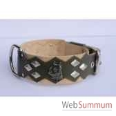 collier dent cuir pfleur dble nub 60mm 60 75cm losangestete sellerie canine vendeenne 83887
