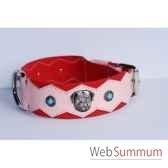 collier dent cuir dble nubuck 60mm l65 a 75cm tete perle sellerie canine vendeenne 83888