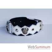 collier dent cuir pfleur dble nub 60mm 60 75cm pointestete sellerie canine vendeenne 83889