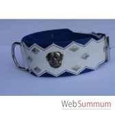 collier dentcuir pfleur dble nub 80mm l65 80cm losangetete chi sellerie canine vendeenne 83892