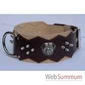 collier dent cuir dble nubuck 80 mm l65 80cm teteclous ogives sellerie canine vendeenne 83897