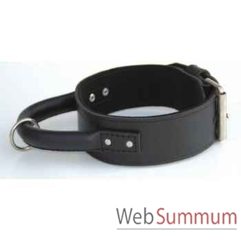Collier inter cuir dble nubuck 58mm l.60-65cm-poignee ronde Sellerie Canine Vendéenne 83960