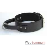 collier inter cuir dble nubuck 58mm l70 80cm poignee ronde sellerie canine vendeenne 83961
