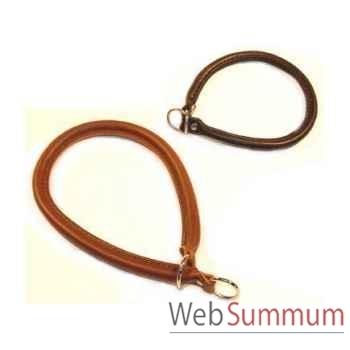 Collier cuir rond etrangleur l. 50 cm  Sellerie Canine Vendéenne 84550