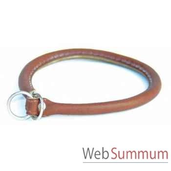 Collier cuir rond etrangleur l. 55 cm Sellerie Canine Vendéenne 84555