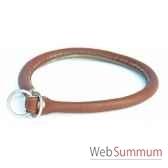 collier cuir rond etrangleur 70cm sellerie canine vendeenne 84570