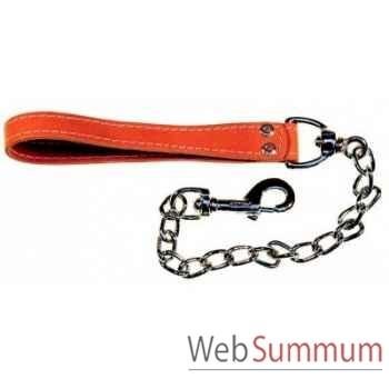 Chaine extra-forte courte mousqueton pompe Sellerie Canine Vendéenne 92900