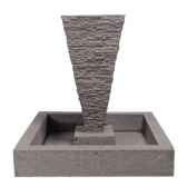 fontaine modele square basin surface pierre noire bs3302lava