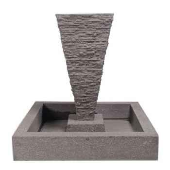 Fontaine-Modèle Square Basin, surface pierre noire-bs3302lava