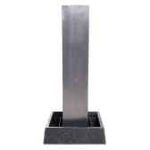 fontaine modele tower fountain square basin seulement bassin surface aluminium bs3129alu basin
