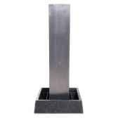 fontaine modele tower fountain square basin seulement bassin surface aluminium bs3129alu basin