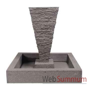 Fontaine-Modèle Square Basin, surface aluminium-bs3302alu