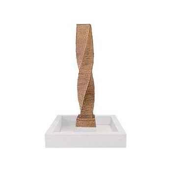 Fontaine-Modèle Twist Spire Fountainhead, surface pierre noire-bs3454lava