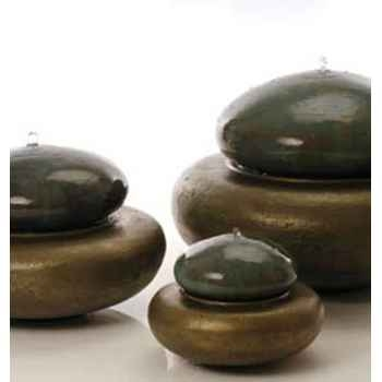 Fontaine-Modèle Heian Fountain medium, surface bronze avec vert-de-gris-bs3365vb