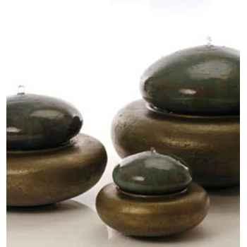 Fontaine-Modèle Heian Fountain medium, surface granite avec bronze-bs3365gry/vb