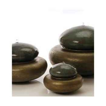Fontaine-Modèle Heian Fountain small, surface aluminium avec bronze-bs3364alu/vb