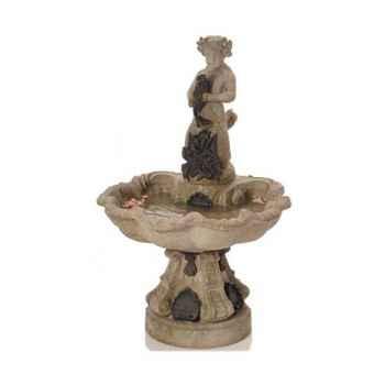 Fontaine-Modèle Alsace Fountain, surface granite combinés avec du fer-bs3103gry/iro