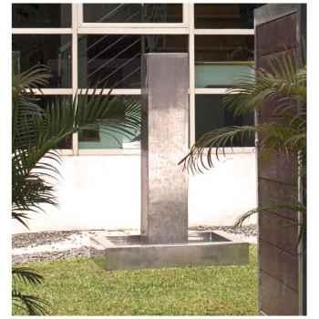 Fontaine-Modèle Tower Fountain Square Basin, seulement le bassin, surface pierre albâtre noir-bs3129alab-basin