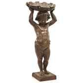 fontaine modele cherub w shelfountainhead surface bronze avec vert de gris bs3143vb