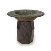 fontaine modele pebble mosaic balfoutainhead surface bronze avec vert de gris bs3246ballvb