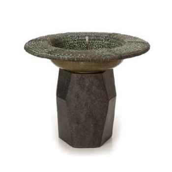 Fontaine-Modèle Pebble Mosaic Ball Foutainhead, surface bronze avec vert-de-gris-bs3246ballvb