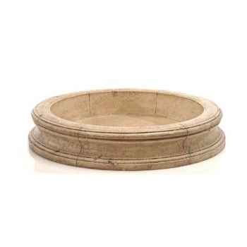 Fontaine-Modèle Pisa Fountain Basin, surface granite-bs3191gry