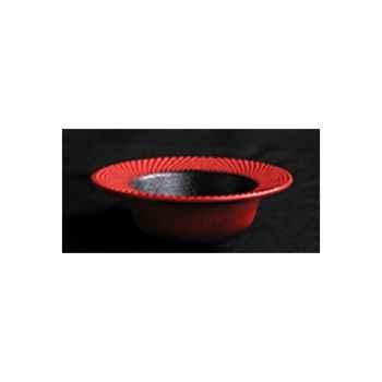 Brûle-parfums bol sans couvercle rouge - INC18057RD