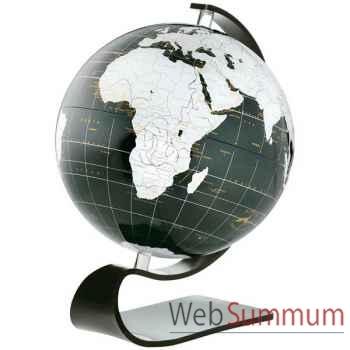 Globe géographique ART-LINE non lumineux - modèle Onyx en Anglais - sphère 30 cm en verre acrilyque-AT713002