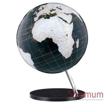 Globe géographique ART-LINE non lumineux - modèle Onyx en Anglais - sphère 30 cm en verre acrilyque-AT713008