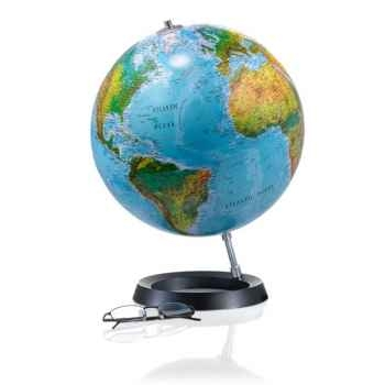 Globe Full Circle FC3L - Globe lumineux - Cartographie de type antique - diam 30 cm - Base caoutchouc et axe aluminium