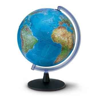 Globe de bureau - Falcon 40 - Globe géographique lumineux - Cartographie double effet : physique éteint, politique allumé