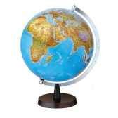 globe de bureau aqua b globe geographique lumineux cartographie double effet physique eteint politique allume diam 30 c