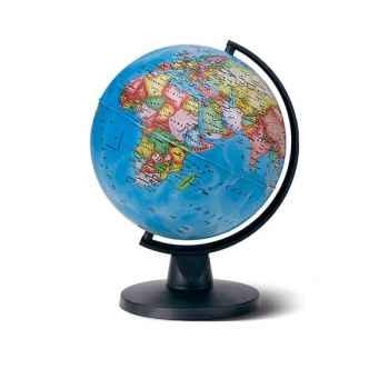Globe Aries Pol - Globe géographique non lumineux - Cartographie politique - diam 16 cm - hauteur 22 cm