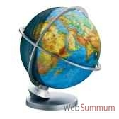 globe geographique colombus lumineux modele planete terre panorama sphere 30 cm co4230529