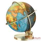 globe geographique colombus lumineux modele planete terre panorama sphere 34 cm co483472