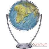 globe geographique columbus lumineux modele magnum sphere 111 cm duo pied acier co2011182