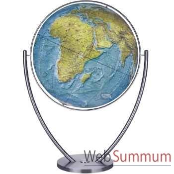 Globe géographique Columbus lumineux - modèle Magnum - sphère 111 cm Duo, pied acier-CO2011182