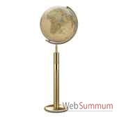 globe geographique colombus lumineux modele prestige sphere 40 cm meridien metalaiton co224079