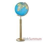globe geographique colombus lumineux modele prestige sphere 40 cm meridien metalaiton co204079