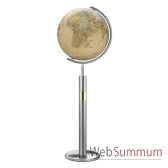 globe geographique colombus lumineux modele prestige sphere 40 cm meridien metaacier fin co224089