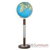 globe geographique colombus lumineux modele prestige sphere 40 cm meridien metaacier fin co204088