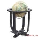 globe geographique colombus lumineux modele prestige sphere 40 cm meridien metaaluminium co2240501